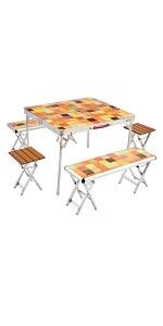 コールマン(Coleman) テーブル ナチュラルモザイクファミリーリビングセットプラス 2000026757