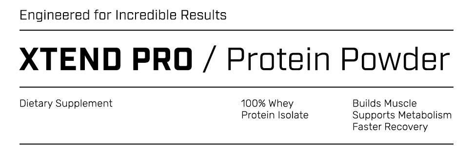 Xtend Pro 100% Whey Protein Isolate Powder