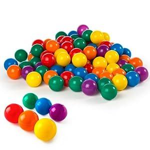 Intex 49600NP Pack 100 bolas multicolor 8 cm di/ámetro