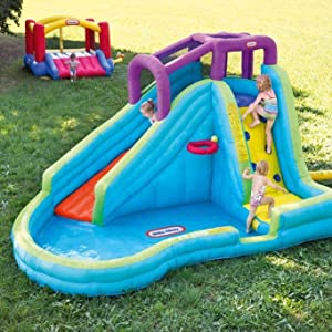 90d7be0a153 Little Tikes Slam  n Curve Slide. The perfect backyard inflatable water ...