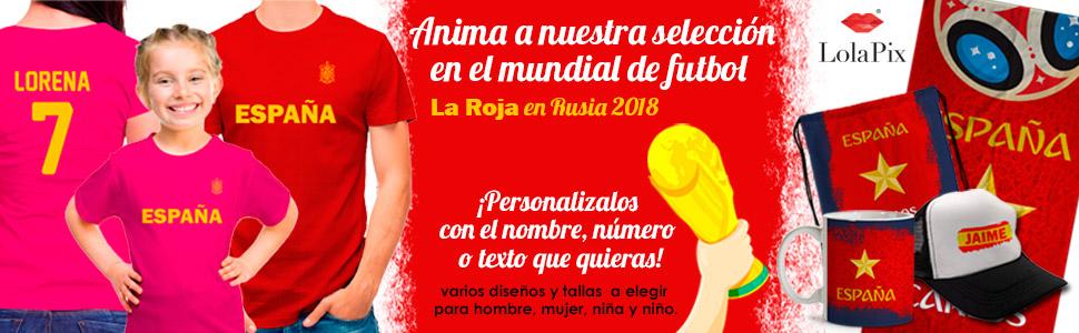 LolaPix Camiseta España Personalizada con tu Nombre y Dorsal | Selección Española | Varios Diseños Tallas | 100% Algodón | Hombre | Negra: Amazon.es: Hogar