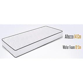 Colchón de poliuretano de 14 cm de altura con espuma plegable de agua