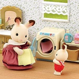 Sylvanian FAMILIES LAVATRICI-Set lavatrice detersivo ACCESSORI 5027