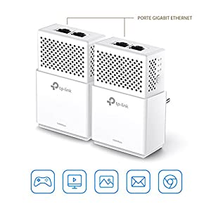 TP-Link TL-PA7020 KIT - 2 Adaptadores de Comunicación por Línea Eléctrica (AV1000 Gigabit, PLC, Extensor, Repetidores de Red, Amplificador Internet, 4 ...