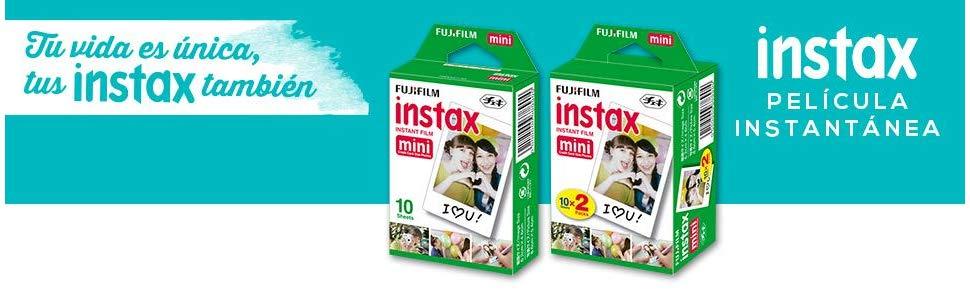 Fujifilm Instax Mini Brillo - Pack de 30 películas fotográficas Instantáneas (3 x10 hojas), color blanco: Amazon.es: Electrónica
