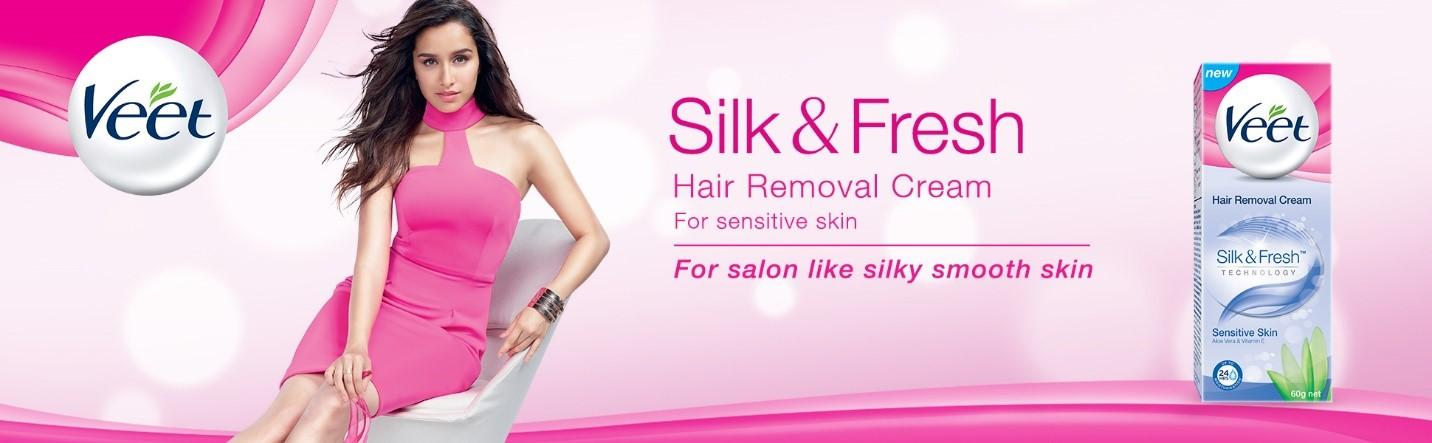 Veet Silk Fresh Hair Removal Cream Sensitive Skin 100 G Beauty Relikart Beauty Baby Care Car Bike Care Clothing Accessories Health Care Home Kitchenware