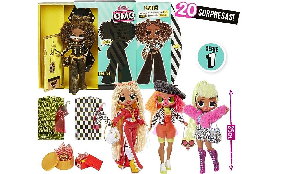 Giochi Preziosi- L.O.L. Surprise O.M.G. Bambola Fashion con 20