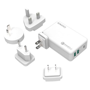 Romoss Power Cube Ex Type-C And Usb 3 Port Power Adapter With Qualcomm Quick Charge