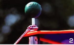 ロゴス ポールエンドロック 4ピース テント タープのロープ抜け防止