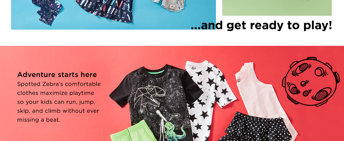 Spotted Zebra kids clothing for boys girls
