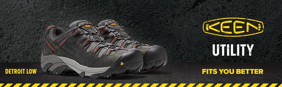 bc16fb917430 Amazon.com  KEEN Utility Men s Detroit Low Steel Toe Work Shoe  Shoes