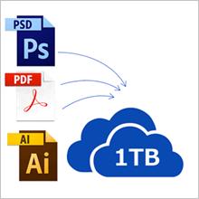 1TBのオンラインストレージサービス OneDrive