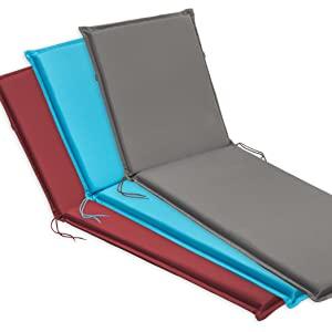 Traumnacht Comfort, Cuscini per Sedia a Sdraio, Set di 2, Outdoor, Antracite, 190 x 58 x 6 cm