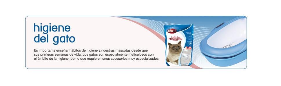 Trixie 40345 - Bandeja Higiénica Vicoeasyclean, Turquesa/Blanco ...