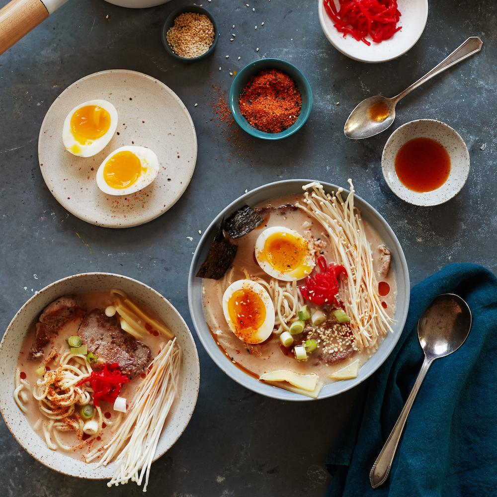 Amazon Meal Kits, Pork Ramen with Fresh Egg Noodles, Serves 2