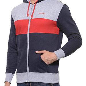 de85b986822c AWG - All Weather Gear Men s Cotton Hoodie Sweatshirt with Zip ...