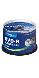 三菱ケミカルメディア Verbatim 1回記録用 DVD-R DHR47JP50V4