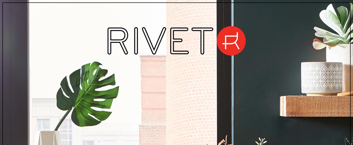 Rivet, home furnishings, small space, décor, ceramics, decorative, apartment, studio, quality, vase