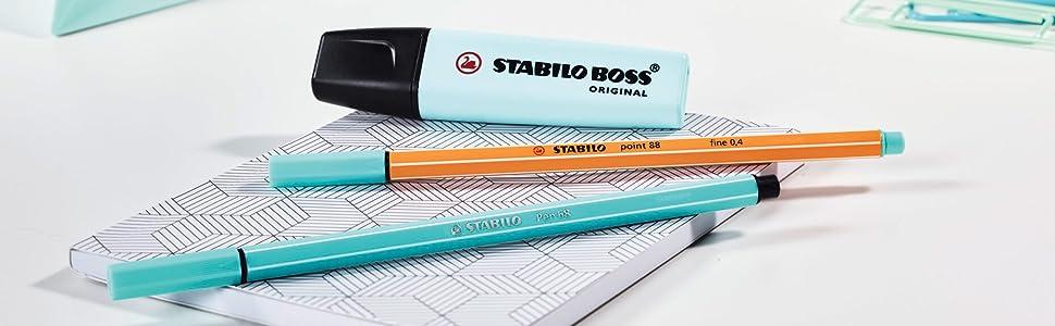 Marcador pastel STABILO swing cool - Estuche con 4 colores: Amazon.es: Oficina y papelería
