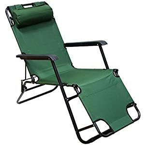 Foldable chair and bed for camping trips 2x1