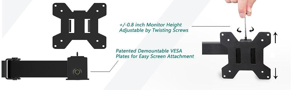 Amazon Com Wali Single Lcd Monitor Desk Mount Stand Fully