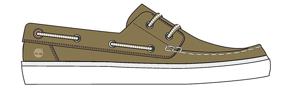 Chaussures bateau Timberland.