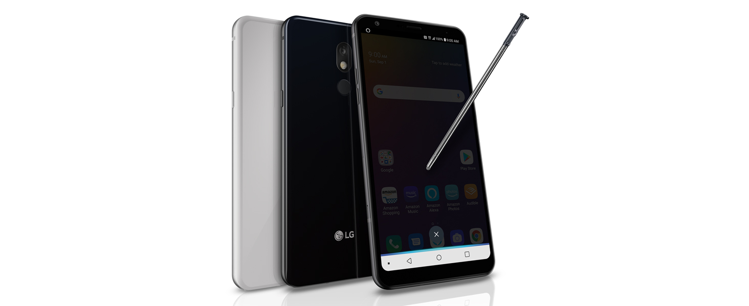 LG Stylo 5 with Alexa Push-to-Talk – Unlocked – 32GB – Black & Silvery White (US Warranty)