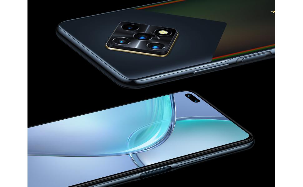 Infinix Zero 8i Dual SIM Mobile - 6.85 Inches, 128 GB, 8 GB RAM, 4G LTE - Silver Diamond