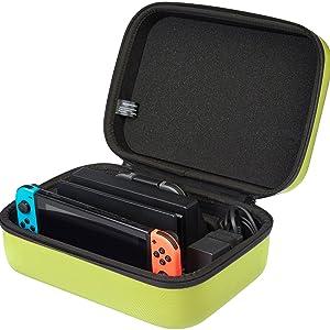 amazon com amazonbasics travel and storage case for nintendo switch