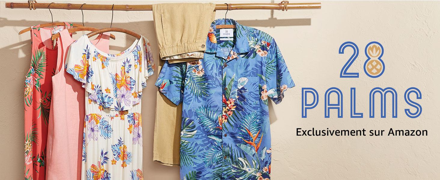 dresses Femme Marque 28 Palms Tropical Hawaiian Print Shift Dress