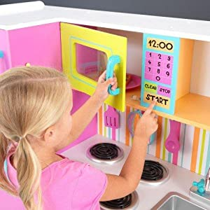 Amazon Com Kidkraft Deluxe Big Bright Kitchen Toys Games