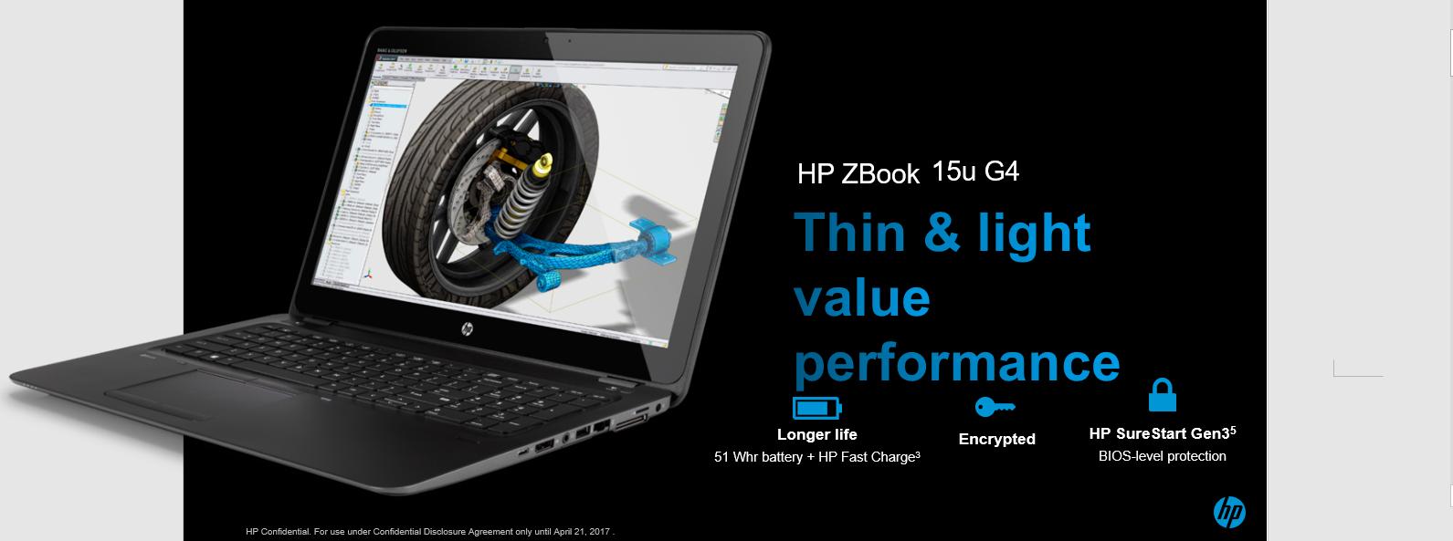 Buy HP ZBook15u G4 Mobile Workstation 2017 15 6-inch Laptop (7th Gen
