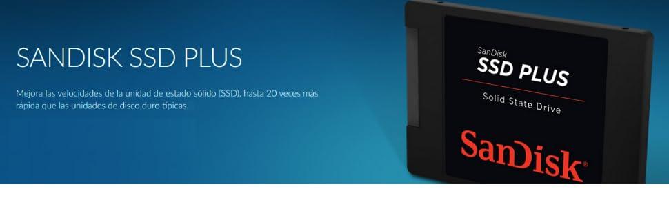 SanDisk SDSSDA-960G Plus, Disco Sólido Interno de 960 GB, SATA III ...