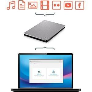 Seagate 2TB Backup Plus Slim USB 3.0 Portable 2.5 Inch External Hard Drive for PC and Mac with 2 Months Free Adobe Creative Cloud Photography Plan - Black