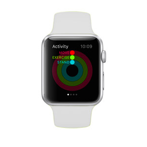 3d5f08ea3 Apple Watch Series 1-42mm Stainless Steel Case with White Sport Band ...