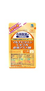 小林製薬の栄養補助食品 マルチビタミン ミネラル 必須アミノ酸 約30日分 120粒
