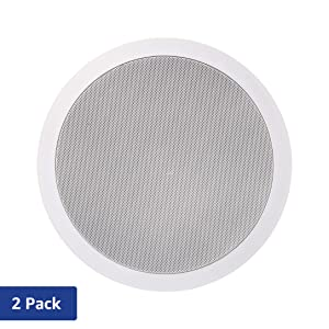 AmazonBasics 6.5-Inch Round In-Ceiling / In-Wall Speakers (Pair)