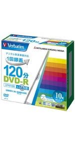 三菱ケミカルメディア Verbatim 1回録画用DVD-R(CPRM) VHR12JP10V1