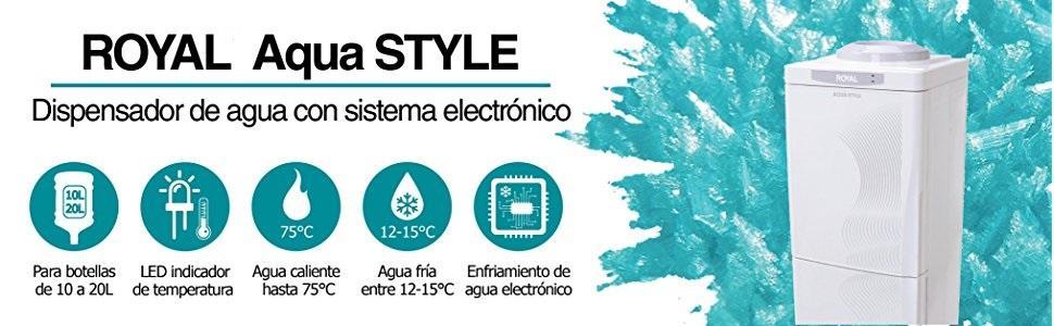 Royal aqua style dispensador de agua de piso con gabinete for Dispensador agua fria media markt
