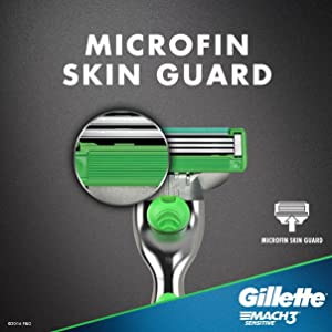 Gillette Mach3 Mens Disposable Razor, Sensitive, 6 Razors, Mens Razors/Blades, 6 Count