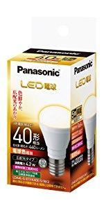 パナソニック LED電球 口金直径17mm 電球40W形相当 電球色相当(4.2W) 小型電球・広配光タイプ 1個入 密閉型器具対応 LDA4LGE17K40ESW2