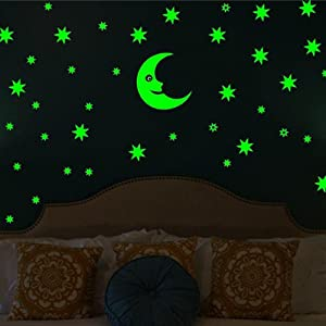 Glow In The Dark Wall Sticker By Wall Whisper U2013 Transform Your Child`s Room!