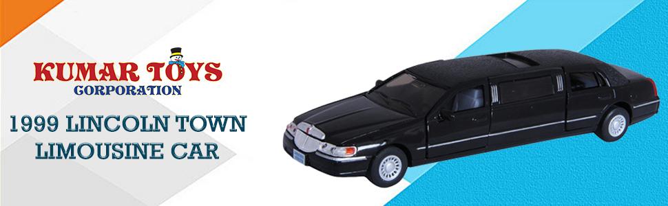 Kumar Toys Kinsmart Die-Cast Metal 1999 Lincoln Town Limousine Car