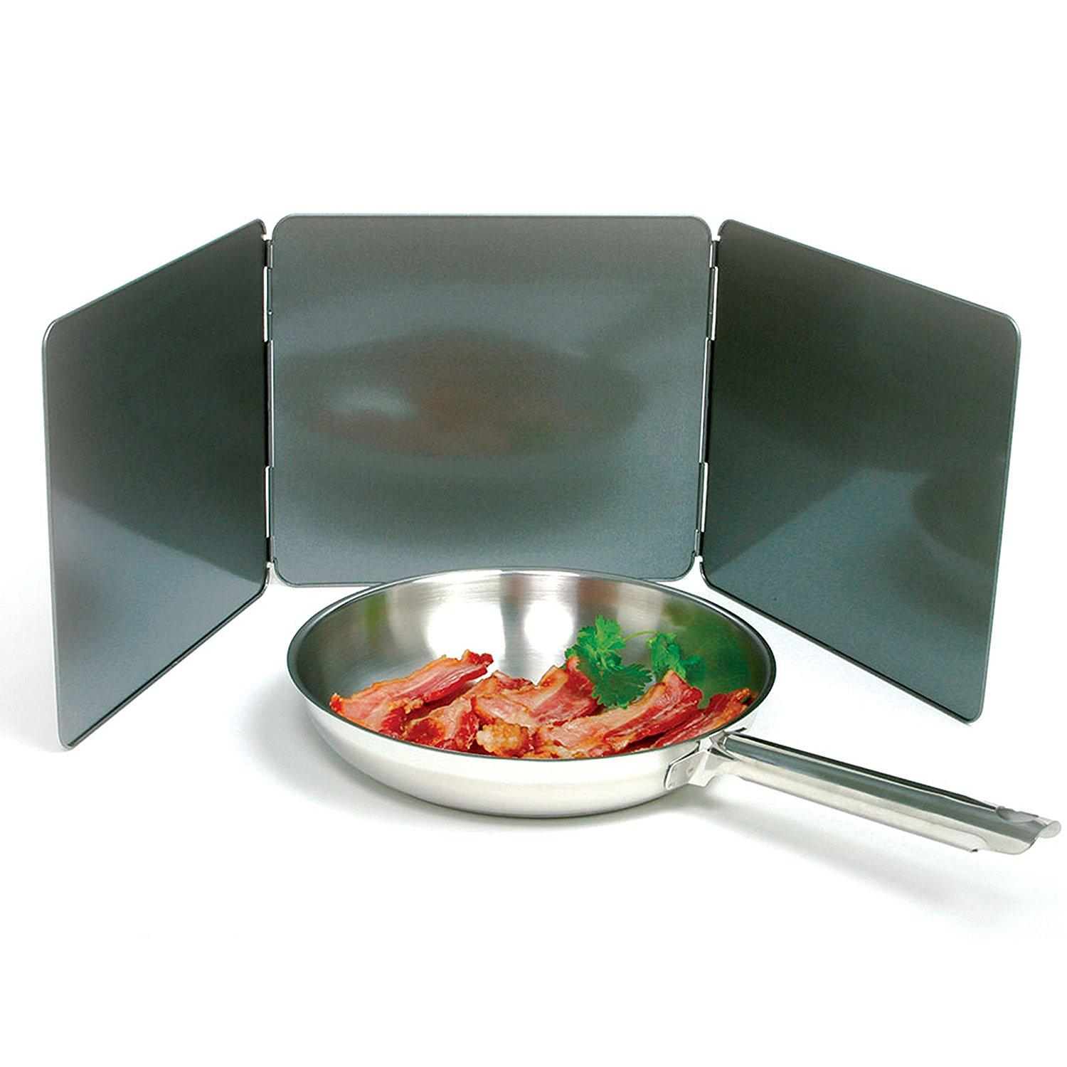 Norpro nonstick 3 sided splatter guard for Plaque anti projection cuisine