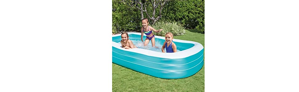 Intex 58484NP - Piscina hinchable rectangular 305 x 183 x 56 cm, 1.020 litros: Amazon.es: Jardín