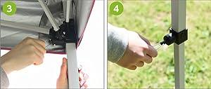 キャンパーズコレクション プロモレジャータープ PLT キャリーケース付 シルバーコーティング 耐水圧 『プロモレジャータープ』の設置方法