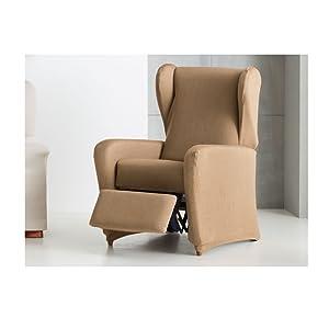 Eysa Ulises, Funda Elástica para sillón Relax C/11, Crudo, 60-90 cm, acrílico