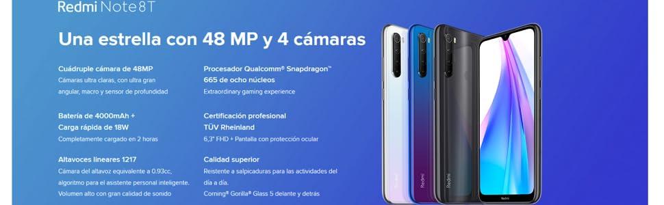 Xiaomi REDMI Note 8T 4+64 Cámara principal de 48 MP