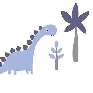 Bedtime Originals Roar Blue//Gray Dinosaur Wall Decals//Appliques Lambs /& Ivy 282048