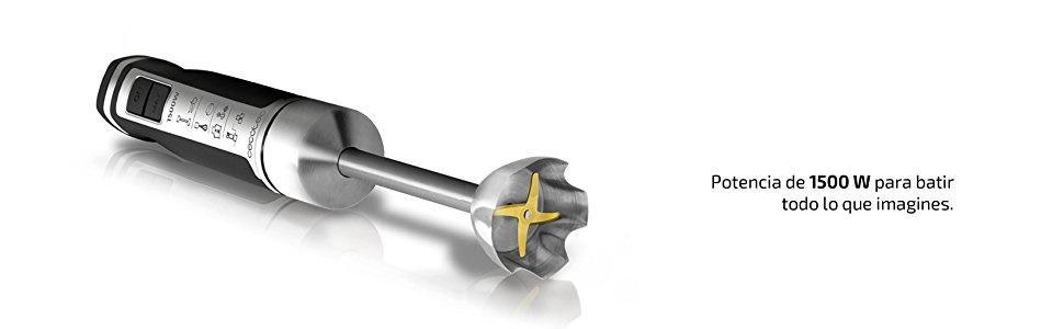 Cecotec Batidora de Mano PowerGear 1500 Pro. Acero Inoxidable ...